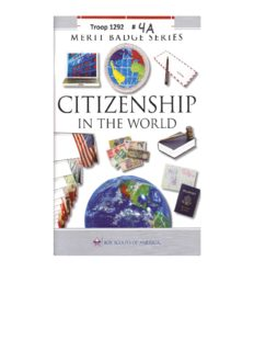 Citizenship in the World Merit Badge Pamphlet - PDF Drive