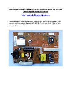 lcd tv power supply ip board schematic diagram repair pdf drive rh pdfdrive com vizio tv power supply schematic lg tv power supply schematic