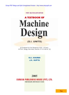 Machine Design Sharma Agarwal Pdf