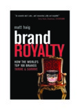 BRAND NAME PRODUCTS Brand royalty how the world's top 100 brands thrive and survive