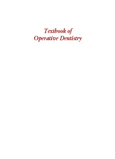 Summitts Fundamentals Of Operative Dentistry 4th Edition Pdf