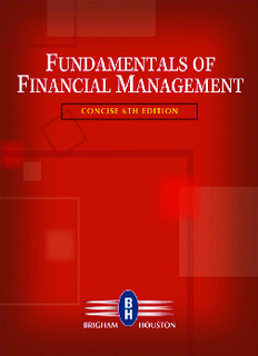 Fundamentals of Financial Management: Concise Sixth Edition