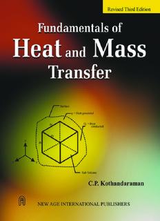 Heat And Mass Transfer By Kothadaraman By C P Kothandaraman Pdf