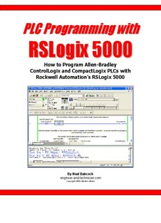 PLC Programming with RSLogix 5000 ( 168 Pages )