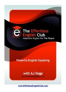 Powerful English Speaking, Download Now - Effortless English