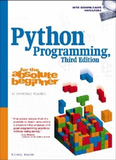 Python Programming For The Absolute Beginner Pdf Drive