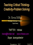 Teaching Critical Thinking- Creativity-Problem Solving