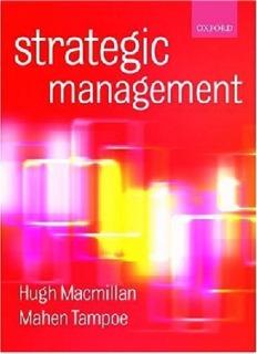 Strategic Management Process, Content and Implementation