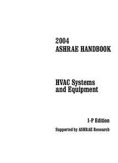 Equipment and systems ashrae pdf handbook hvac