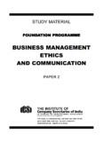BUSINESS MANAGEMENT ETHICS AND COMMUNICATION - ICSI