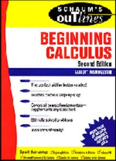 Outline pdf schaums calculus