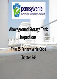 Aboveground Storage Tank Inspections by Clancy, Chad M  - PDF Drive