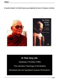 in this very life liberation teachings of the buddha