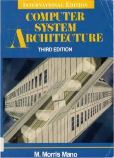 Mano by book system morris pdf architecture computer