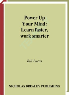 Power Up Your Mind: Learn faster, work smarter