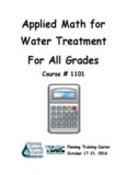 Applied Math for Water Treatment For All Grades