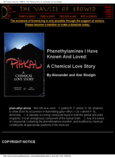 Pihkal - Phenethylamines I Have Known And Loved[www erowid org