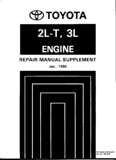 2l t 3l engine repair manual supplement toyota 4wd club 174 pages rh pdfdrive com Toyota 2.2 Engine Diagram Toyota Diesel Engines