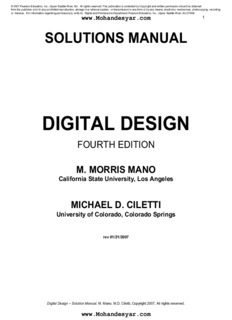 Digital Logic Design By Morris Mano 3th Edition Pdf