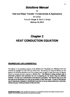 Heat And Mass Transfer Fundamentals And Applications 5th Edition