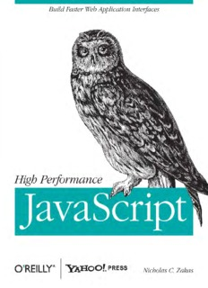 O Reilly High Performance Javascript Zakas Pdf By Nicholas C