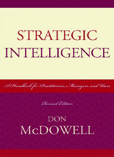 Strategic Intelligence : a Handbook for Practitioners, Managers, and