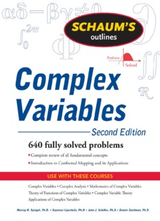 Schaum Series Complex Analysis Pdf