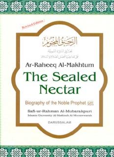 Seal Of Nectar Pdf