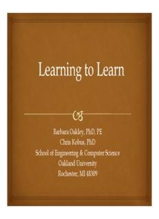 Learning how to learn barbara oakley pdf