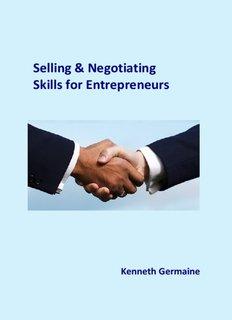 Selling & Negotiating Skills for Entrepreneurs - Start your own