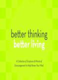 Better thinking better living - Joyce Meyer