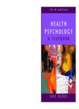 Health Psychology : a Textbook