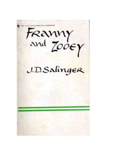 Franny And Zooey Jd Salinger Pdf