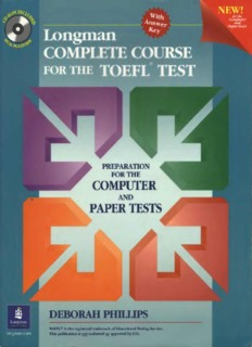 Cambridge Toefl Preparation Book Pdf