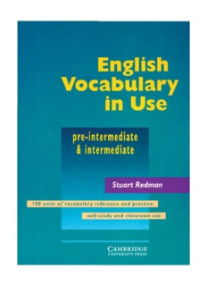 English Vocabulary In Use Pre Intermediate Download 269 Pages Free