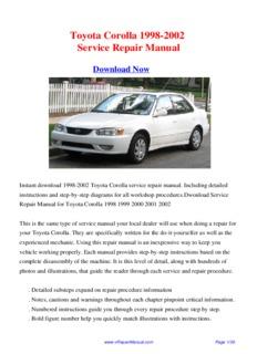 toyota corolla 1998 2002 workshop manual pdf drive rh pdfdrive com 1998 Corolla Black 1998 Corolla Red