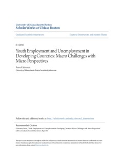 unemployment in developed and developing countries