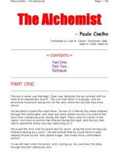 Alchemist Paulo Coelho Pdf English