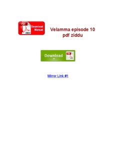 Velamma Comics Tamil Pdf File