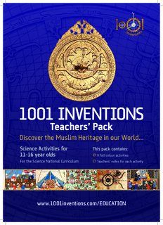 1001 Inventions Book Muslim Heritage In Our World