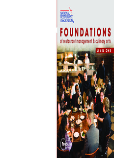 foundations of restaurant management culinary arts level one pdf
