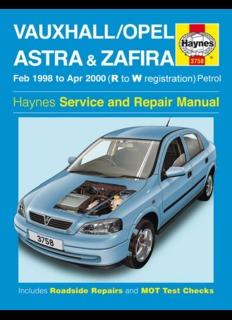 opel astra g zafira repair manual haynes 2003 pdf pdf drive rh pdfdrive com Opel Astra Sedan Opel Astra Sedan