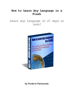 How to Learn Any Language in a Flash