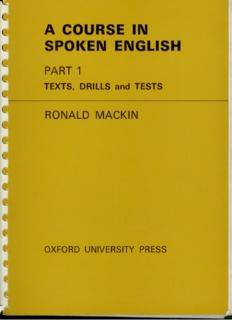 a course in spoken english