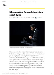 9 lessons Atul Gawande taught me about dying