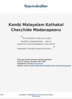 Kambi kathakal pdf malayalam hot