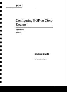 Configuring BGP On Cisco Routers Vol 1 - PDF Drive