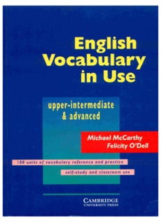 English Vocabulary In Use Upper Intermediate Advanced Pdf Drive
