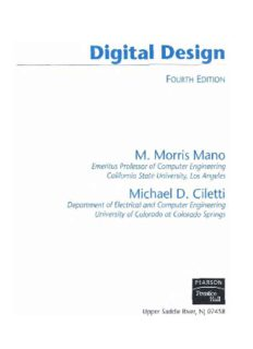 Digital Design By Morris Mano 3rd Edition Pdf