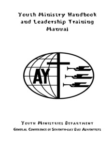 youth ministry handbook and leadership training manual pdf drive rh pdfdrive com Youth Ministry Games Lesson Plans for Youth Ministry